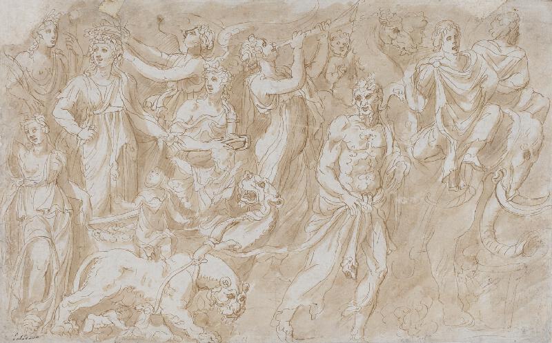 neznámý malíř - Mytologický triumf