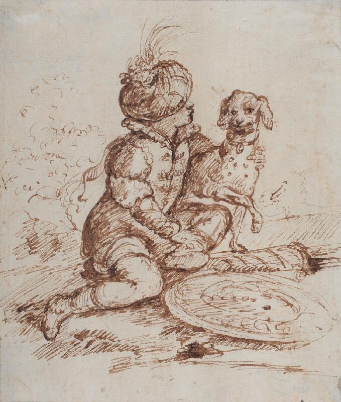 Giuseppe Caletti zv. il Cremonese - Chlapec se psem