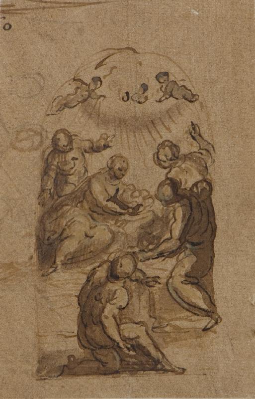 Jacopo Negretti zv. Palma il Giovane - okruh - Klanění pastýřů