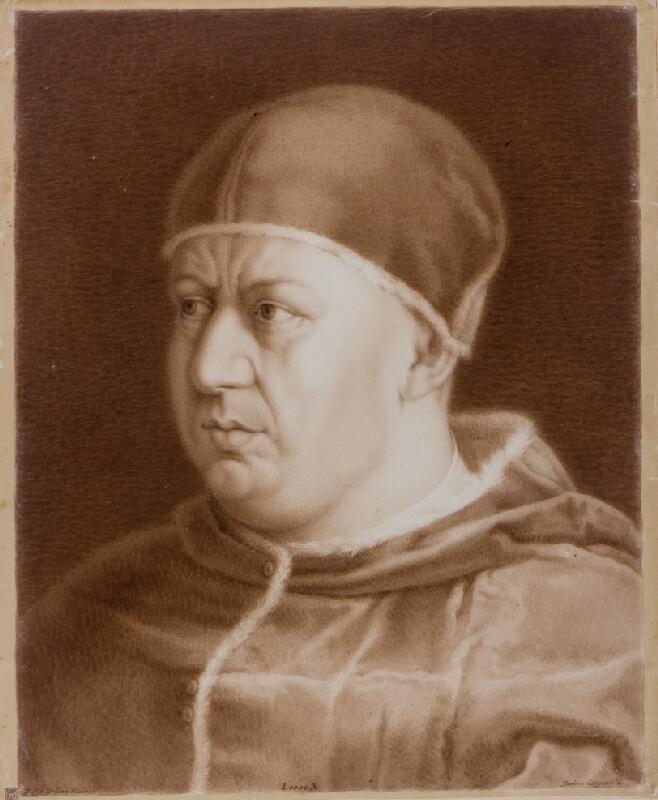 Paolino Girgenti - podle Raffaela - Poprsí papeže Lva X.