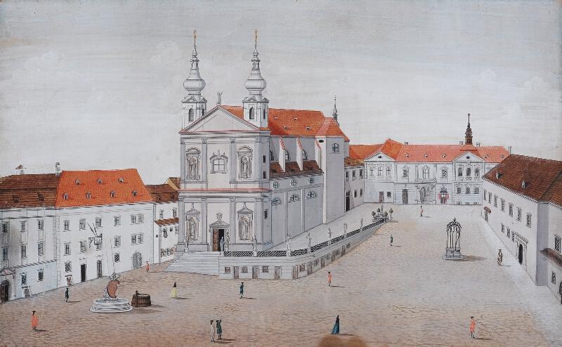 Josef Maserle - kopista - Dominikánské náměstí v roce 1780 (?)
