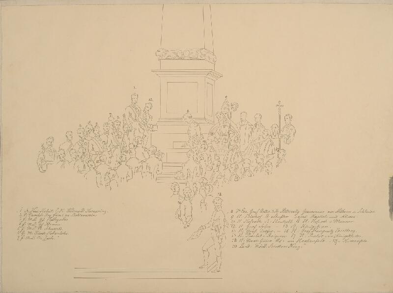 František (Franz) Richter - Svěcení obelisku na Františkově