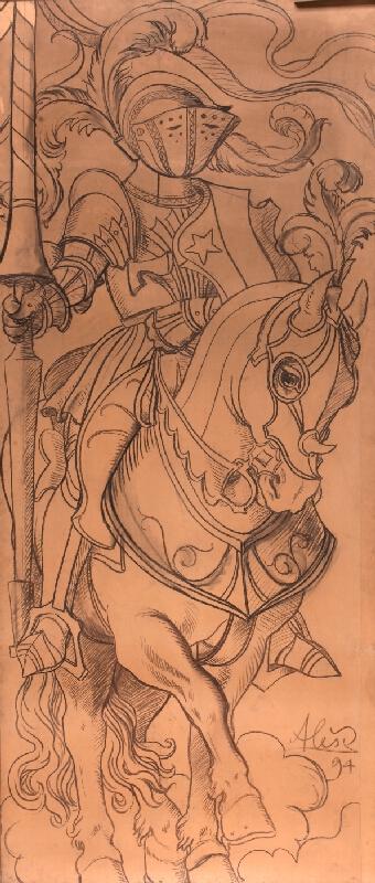 Mikoláš Aleš - Rytíř na koni