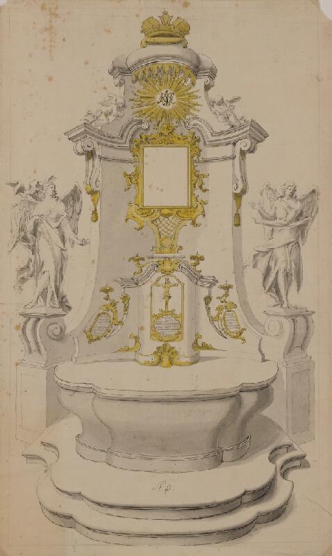 Moritz (Mořic) Grimm (?) - Návrh na oltář