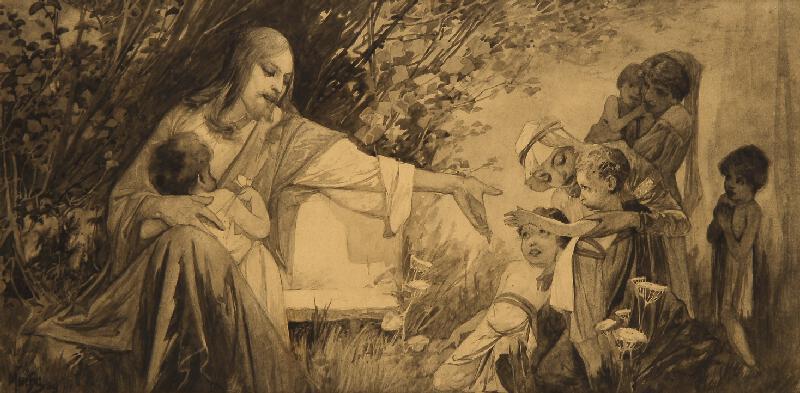 Alfons Mucha - Nechte maličké přijíti ke mně