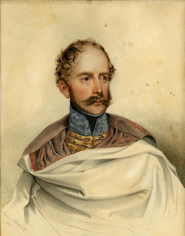 Antonín Skrbenský - Podobizna Dominika, hraběty Vrbny v husarské uniformě majora