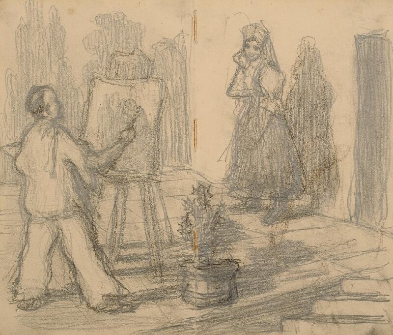 Ludvík Ehrenhaft - V ateliéru