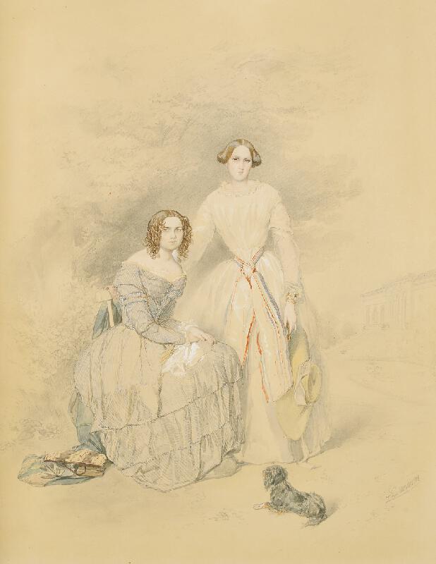 Leopold Brunner/1788 - Podobizna Gisely a Agnesy Stolbergových v Čechách p/Kosířem