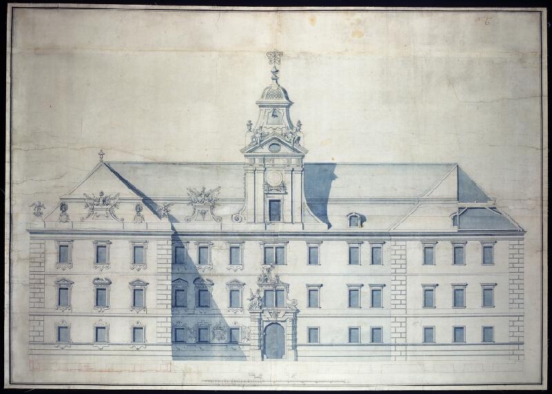Antonio Mario Nicolao Beduzzi - Valtice - průčelí zámku