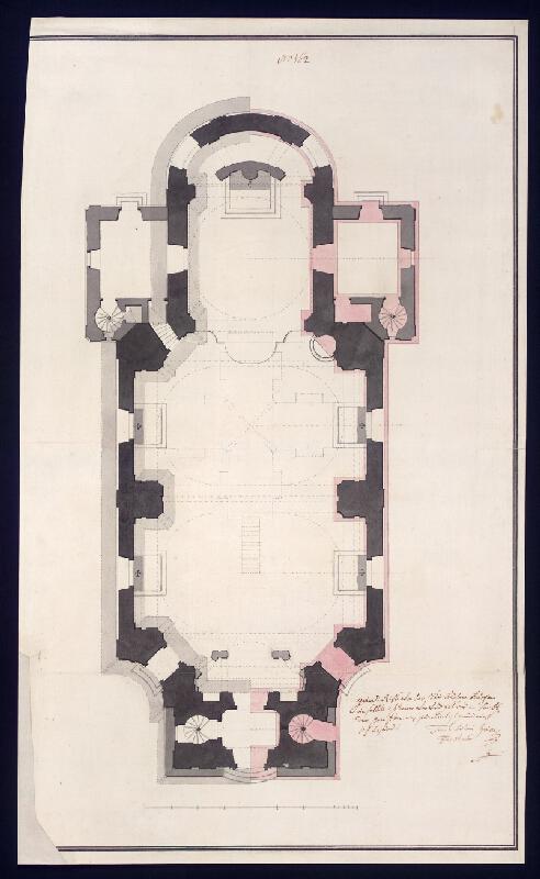 Franz Anton Grimm - Hranice, půdorys chrámu