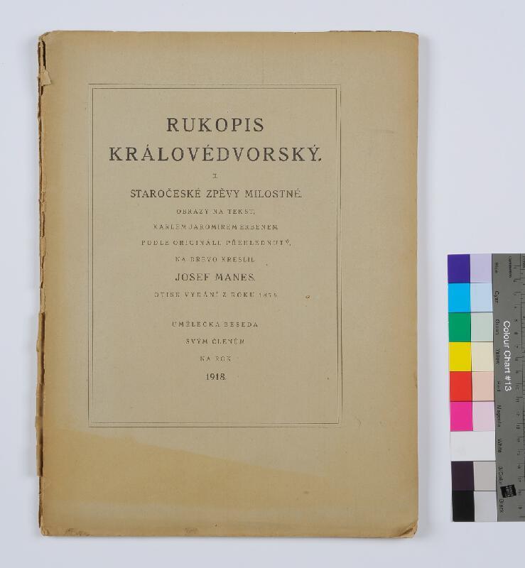 Umělecká beseda, neznámý autor, Josef Mánes - Rukopis Královédvorský II.