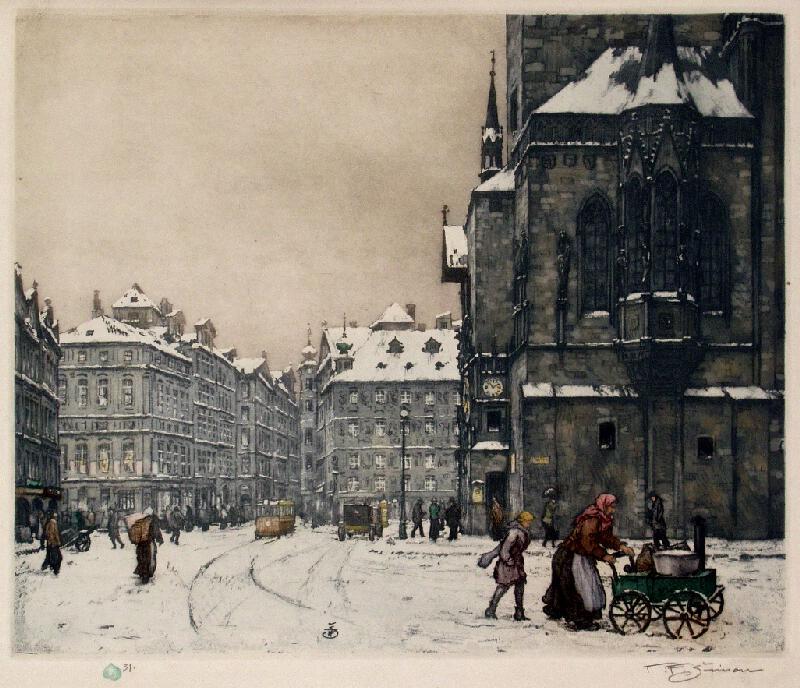 Tavík František Šimon - Zima na Staroměstském náměstí