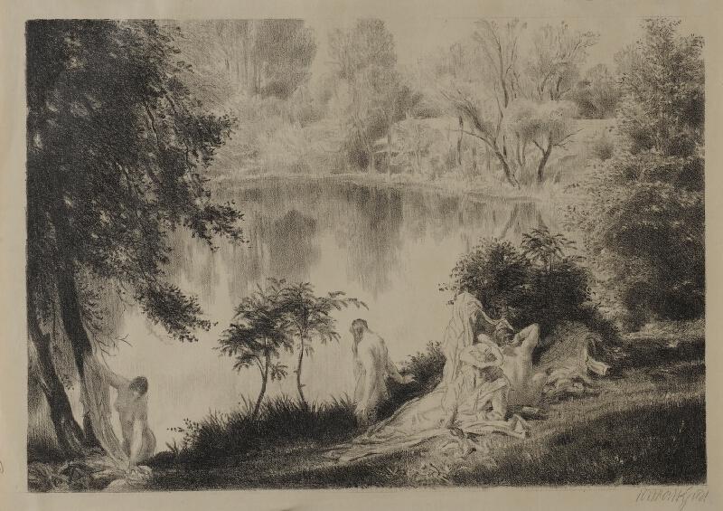 Jakub Obrovský - Koupání u rybníka