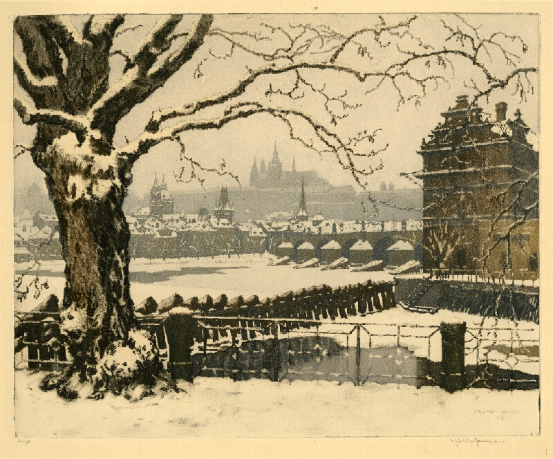 Jaromír Stretti-Zamponi - Praha pod sněhem