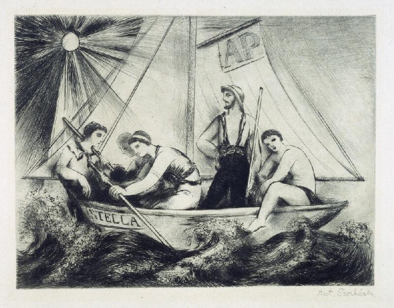 Antonín Procházka - Plavci na lodi Stella