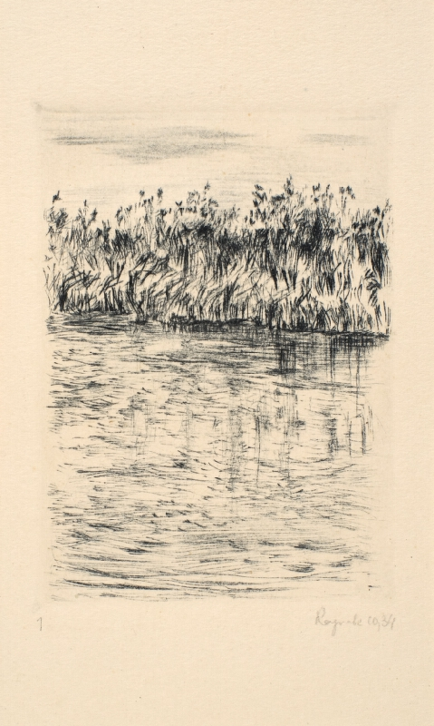 Bohuslav Reynek - Krajina s rybníkem