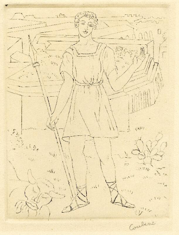 Otakar Kubín - Pastýř v antické krajině