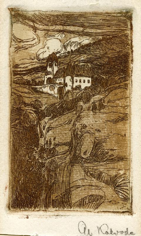 Alois Kalvoda - Krajina s hradem