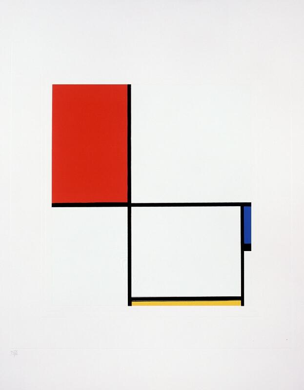 Piet Mondrian - Abstraction, création - Composition D