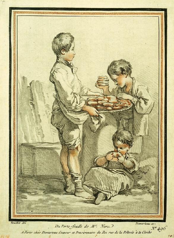 Gilles Antoine Demarteau/1750 - Mísa koláčů (Mladí labužníci)