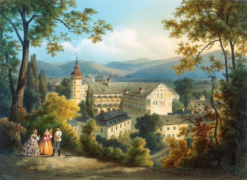 August Haun - Velké  Losiny  -  zámek