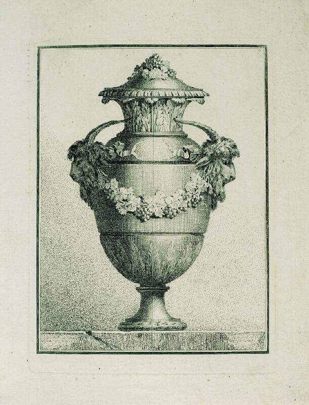 Benigno Bossi - Váza s kozlím hlavami
