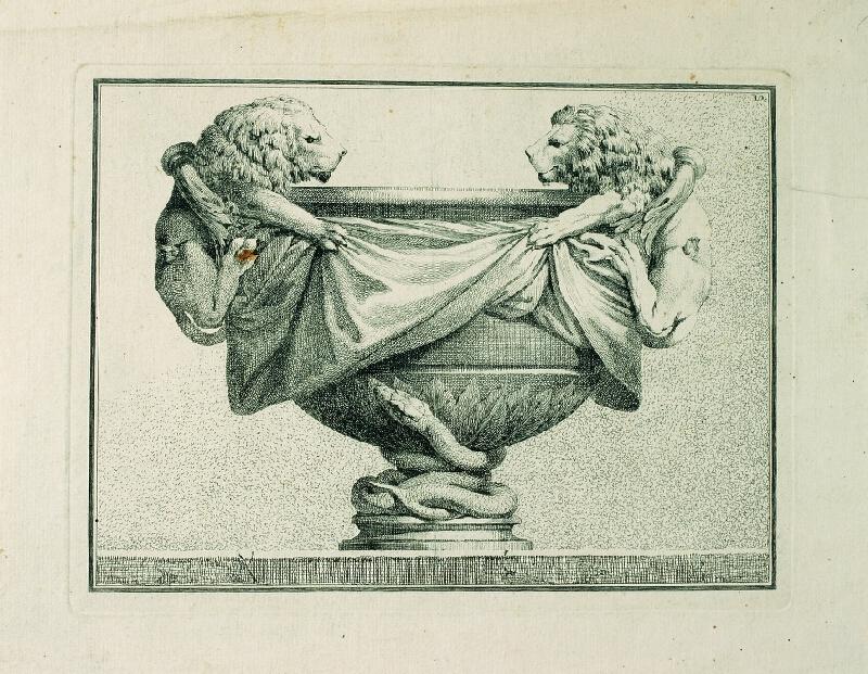 Benigno Bossi - Váza se lvy