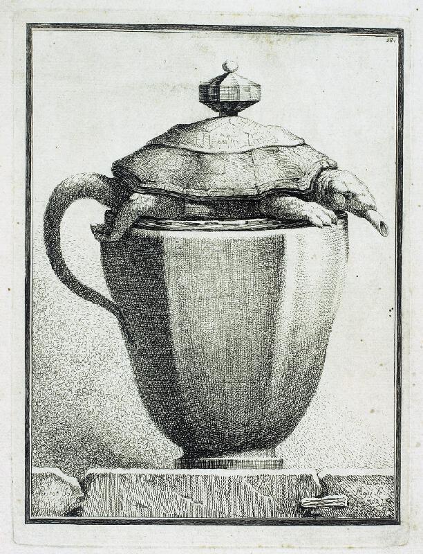 Benigno Bossi - Váza  s  želvou