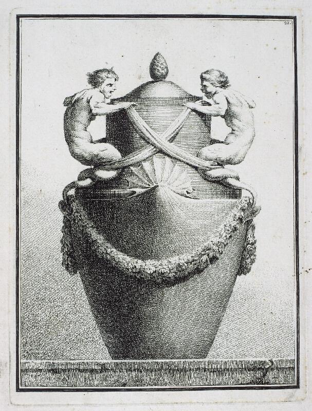 Benigno Bossi - Váza s dvěma mořskými bytostmi