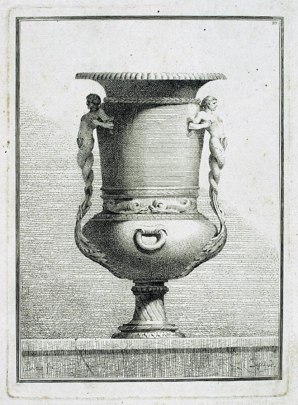 Benigno Bossi - Váza s vodními bytostmi