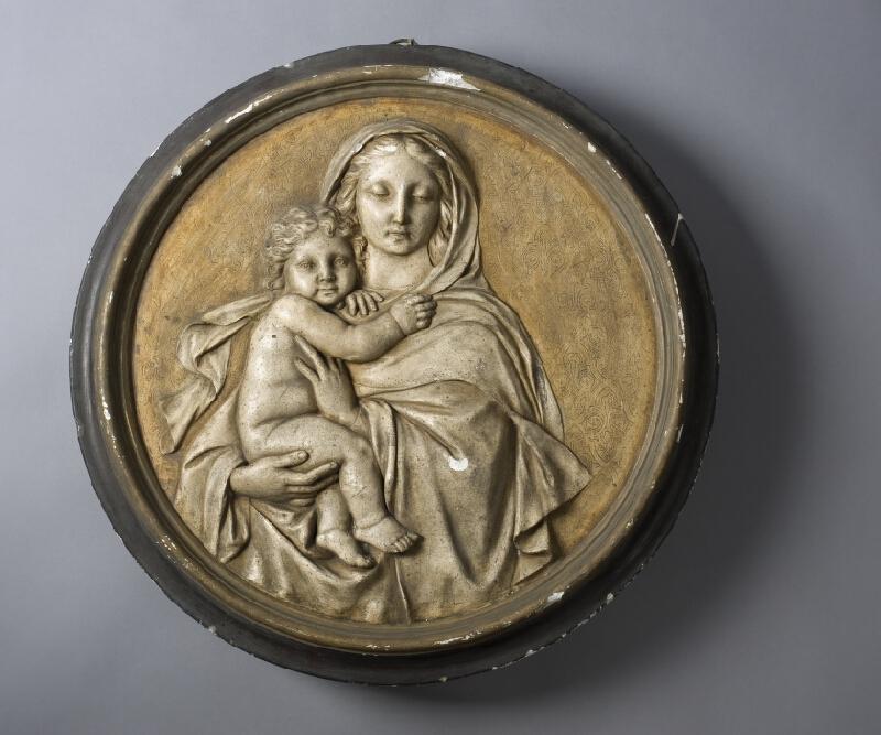 neznámý sochař - Madona s dítětem - medailon