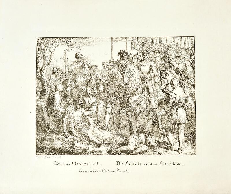 Josef Führich - Bitva na moravském poli