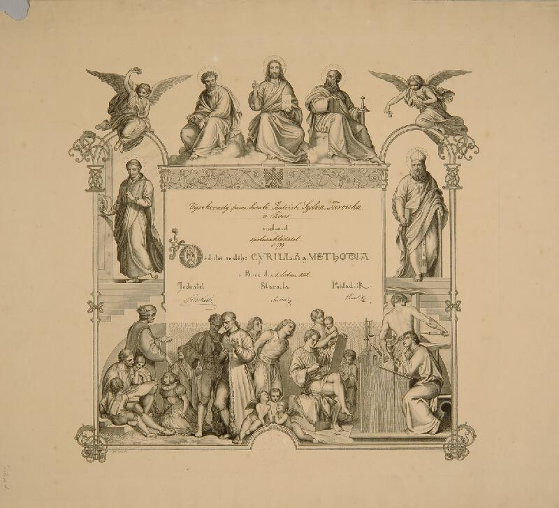 Alois Petrák - Diplom Dědictví sv. Cyrilla a Methoda