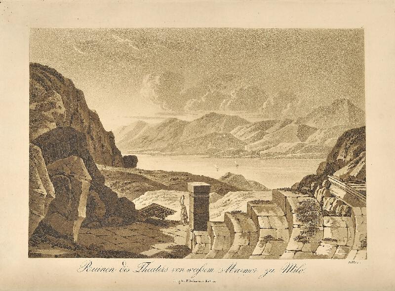 Georg (Jiří) Döbler - Ruiny divadla na Mélu (pohledy z Orientu)