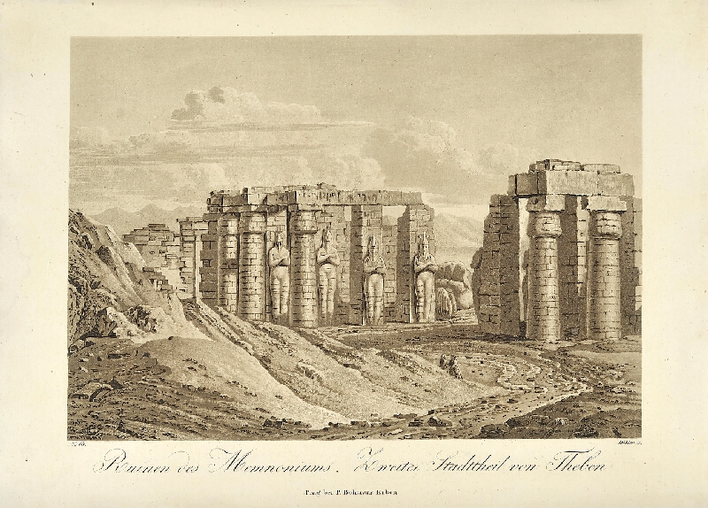 Georg (Jiří) Döbler - Ruiny Memnonea (pohledy z Orientu)