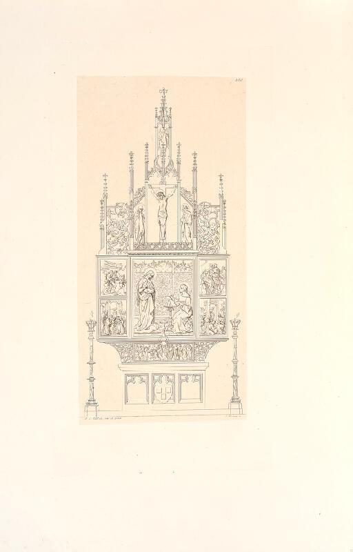 Konrad (Conrád) Wiesner - Návrh na oltář P. Marie