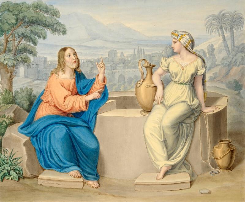 Václav Mánes - Kristus a Samaritánka