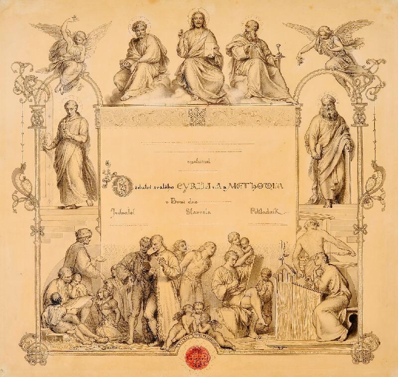 Josef Mánes - Diplom Dědictví sv. Cyrila a Metoděje