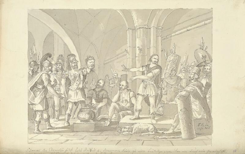 František (Franz) Richter - Uzavření smlouvy mezi Hermanem a Marobudem