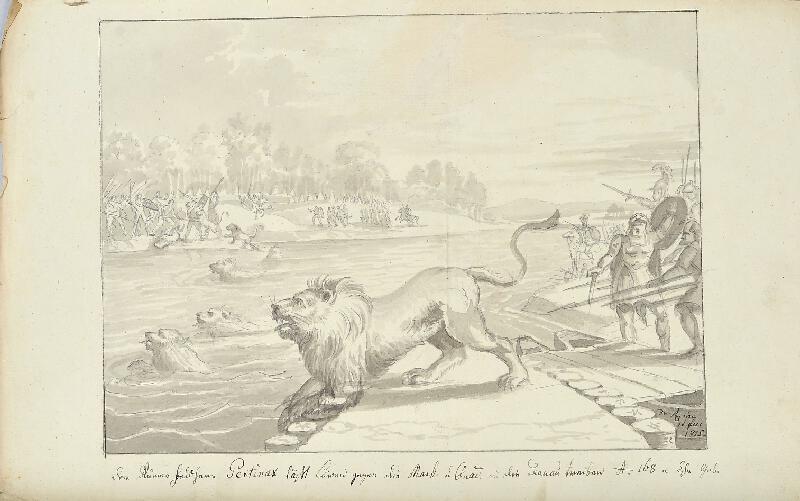 František (Franz) Richter - Pertinax posílá proti Markomanům a Kvádům lvy