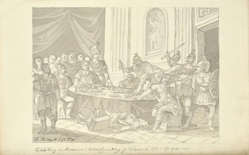 František (Franz) Richter - Zavraždění krále Markomanů a Kvádů ve Valerii r. 373