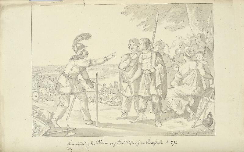 František (Franz) Richter - Příchod Slovanů k Chubě r. 792