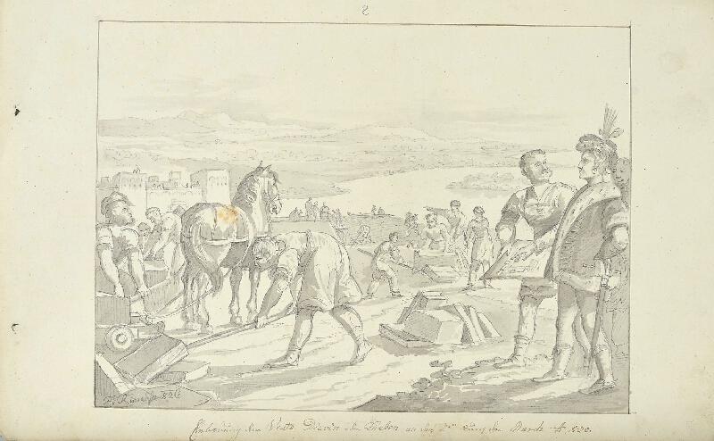 František (Franz) Richter - Výstavba pevnosti Děvín při ústí řeky Moravy