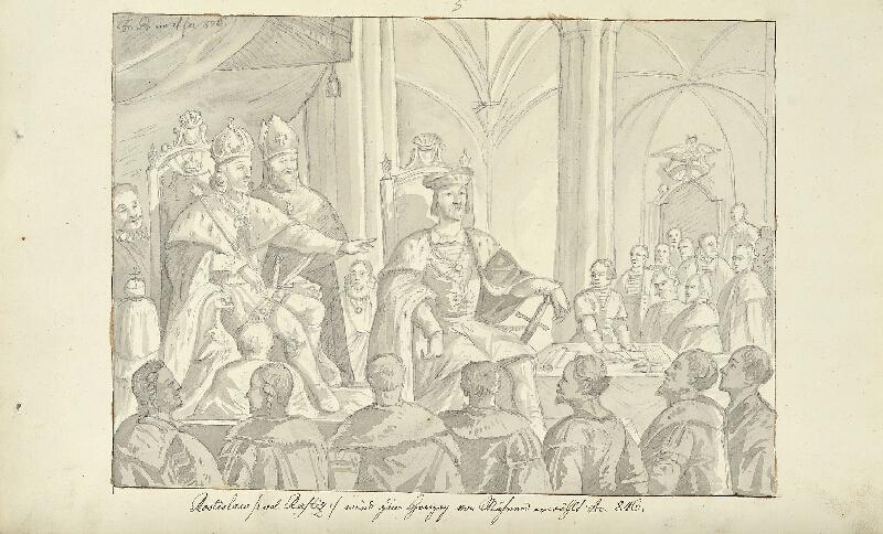 František (Franz) Richter - Rostislav zvolen moravským vévodou