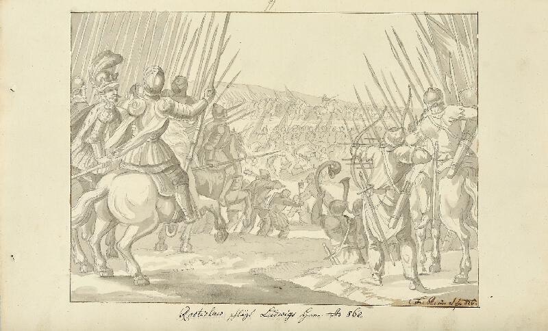 František (Franz) Richter - Rostislav poráží Ludvíka