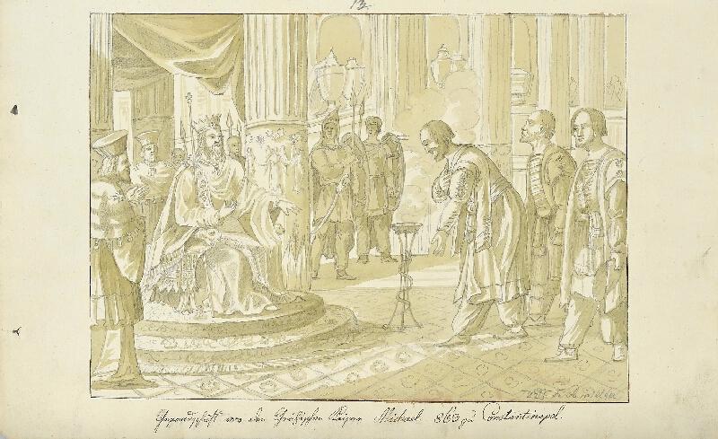 František (Franz) Richter - Poselství u císaře Michala v Cařihradě