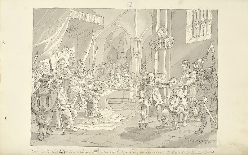 František (Franz) Richter - Ludvík Němec dává oslepit krále Markomanů