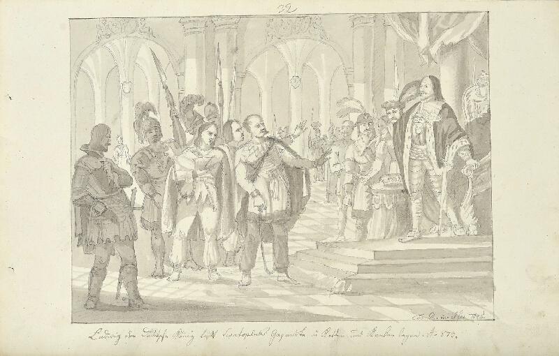 František (Franz) Richter - Ludvík zatýká Svatoplukovy vyslance