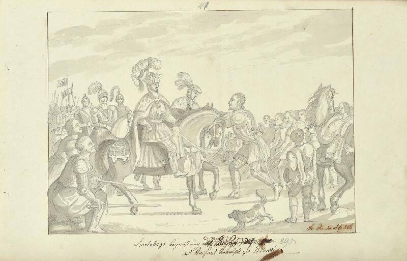 František (Franz) Richter - Svatoboj zdraví císaře Arnulfa