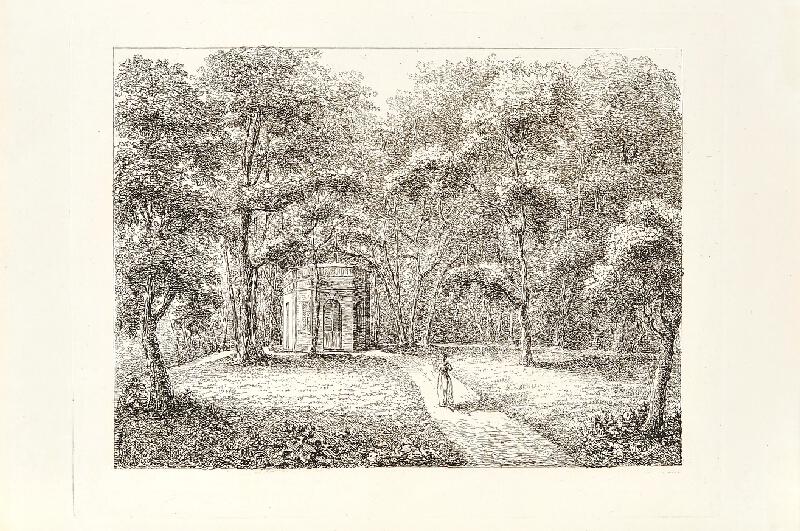 Marie T. Černínová (Czernin) - Zámecký park s altánkem